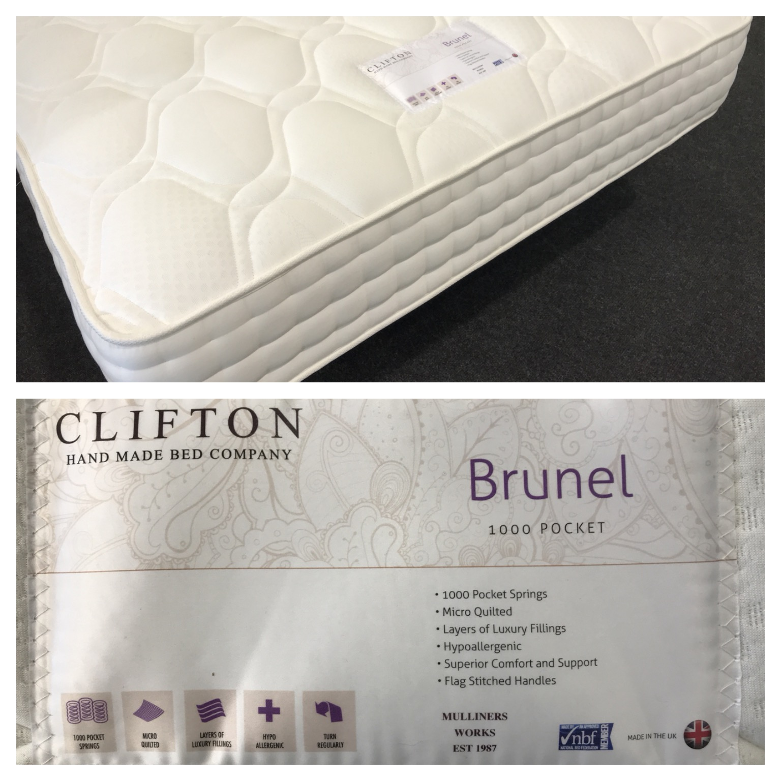The Bed Super Bristol Beds Stockists Of Memory Foam Products Small Double 4 0